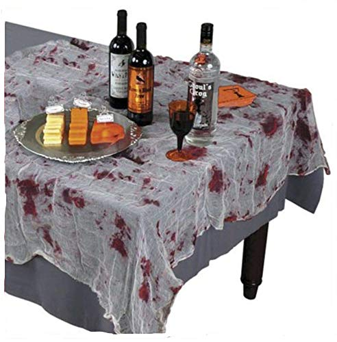 Sachsen Versand Blutige Tischdecke Blut Halloween Horror Grusel gruslig Deko Karneval Fasching