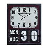Yosemite Home Decor Rectangular Wall Clock with Glass, Multi