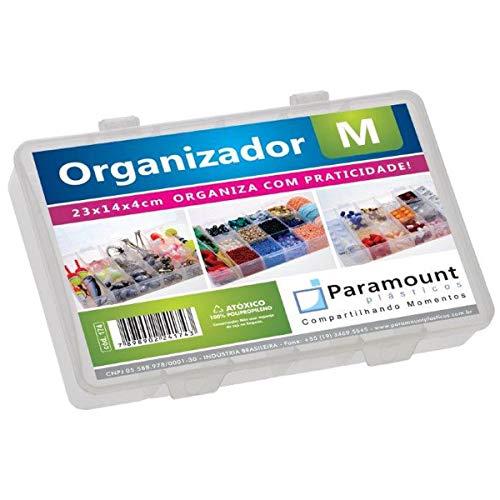 Box Organizador M 23x14x4 Cristal - 01 Unidade Paramount Incolor