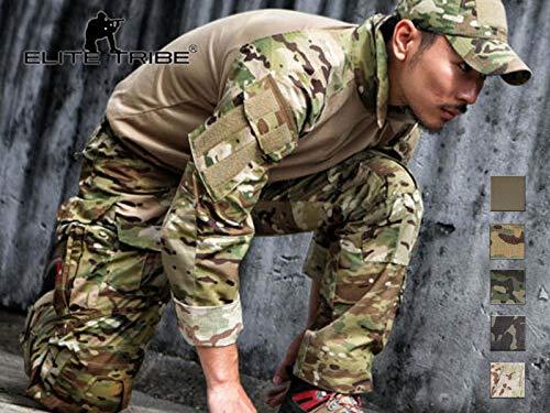 Elite Tribe Emerson Gen3 Combat Uniforme pour des Hommes Devoir Camo Airsoft Militaire Chemise Un Pantalon (Multicam Black, X-Large)