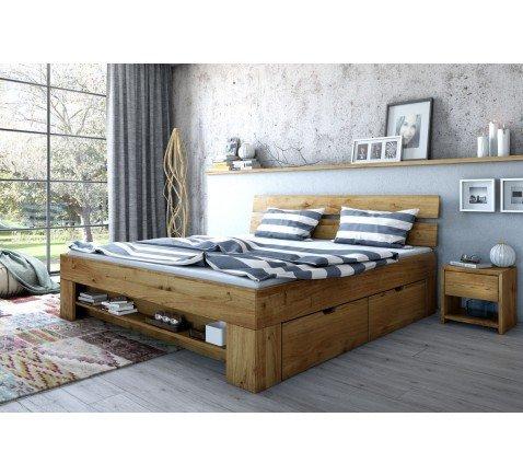 Massivmoebelversand.de Futonbett Verschiedene Holzfarben und Größe (Wildeiche, 180 x 200 cm)