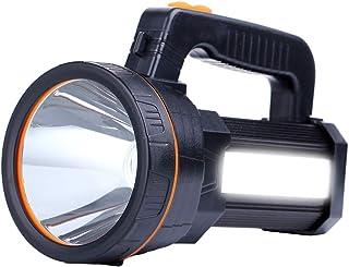 Eornmor High Power LED Rechargeable Spotlight Handheld 6000 Lumen Super Bright Waterproof Large LED Flashlight High Lumen ...