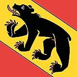 DIPLOMAT Flagge Bern | Fahne 0.06m² | 25x25cm für Flags Autofahnen