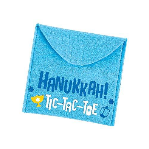 Fun Express Hanukkah Tic-Tac-Toe Games (6 Piece Set) Jewish Party Games