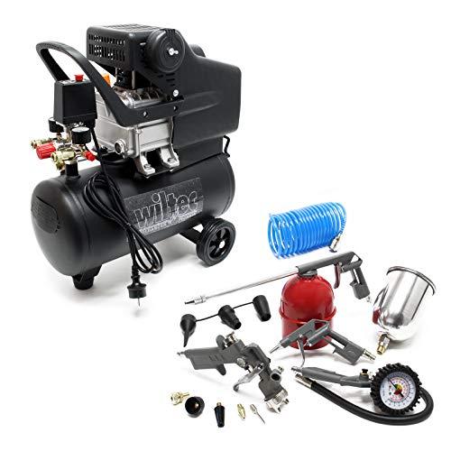 Compressore 24 litri con set di accessori da 13 pz. Compressore d aria compressa con accessori