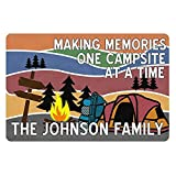LQQWY Personalized Customized Camper Metal Sign Making Menmories One Campsite at A Time Signs Wall Decor Outdoor Art Plaques