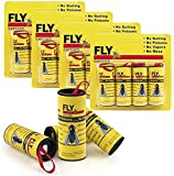 Sticky Fly Trap, Fly Ribbons, Fly Paper Strips, Fly Paper Strips, Indoor/Outdoor Fly Catcher Trap, Fly Bait (16Pack Yellow)