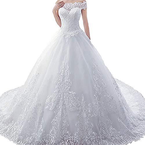 Kanqingqing bruidsjurk vrouwen prinses bruiloft huwelijk grote maat trailing bruiloft bruidsjurk zwangerschaps