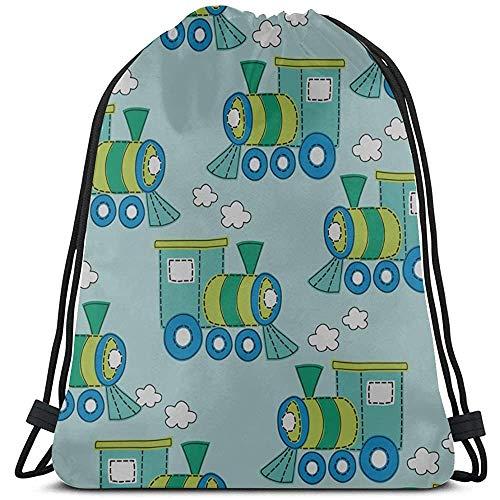 Catroon Interesante Baby Stroller Drawstring Sports Bag Poliéster Yoga Drawstring Bag Mochila con cordón Mochila Bolsa de Deporte para Viajes de Gimnasio