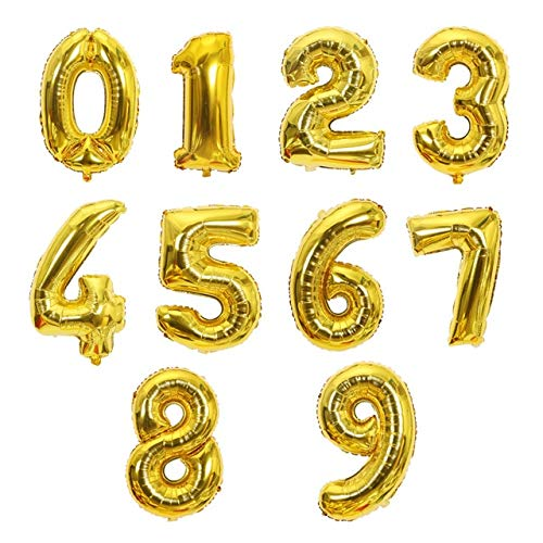 TOSISZ Big Size Gold Sliver Rose Gold Number Balloon Birthday Wedding Party Decorations Foil Balloons Kid Boy Toy Baby Shower-Gold,6,40Inch