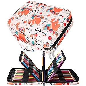 Jakago – Estuche para Lápices de Colores con Capacidad para 220 Lápices de Colores, Bolsa Impermeable para Lápices de…