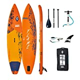 Aztron AQUATONE Flame 12.6 Touring iSUP aufblasbar Surfboard, Stand Up Paddle 381x81x15