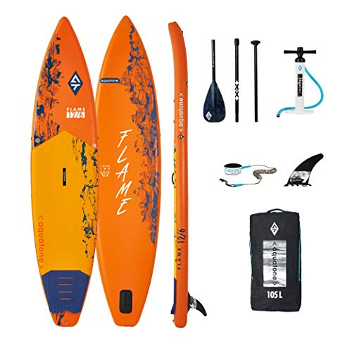 Aztron Aquatone Flame 12.6 Touring Isup Hinchable Tabla de Surf, Stand Up Paddle 381x81x15