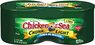 Chicken Of The Sea Tuna Chunk Light In Water, 5 Ounce Cans (Pack of 4)