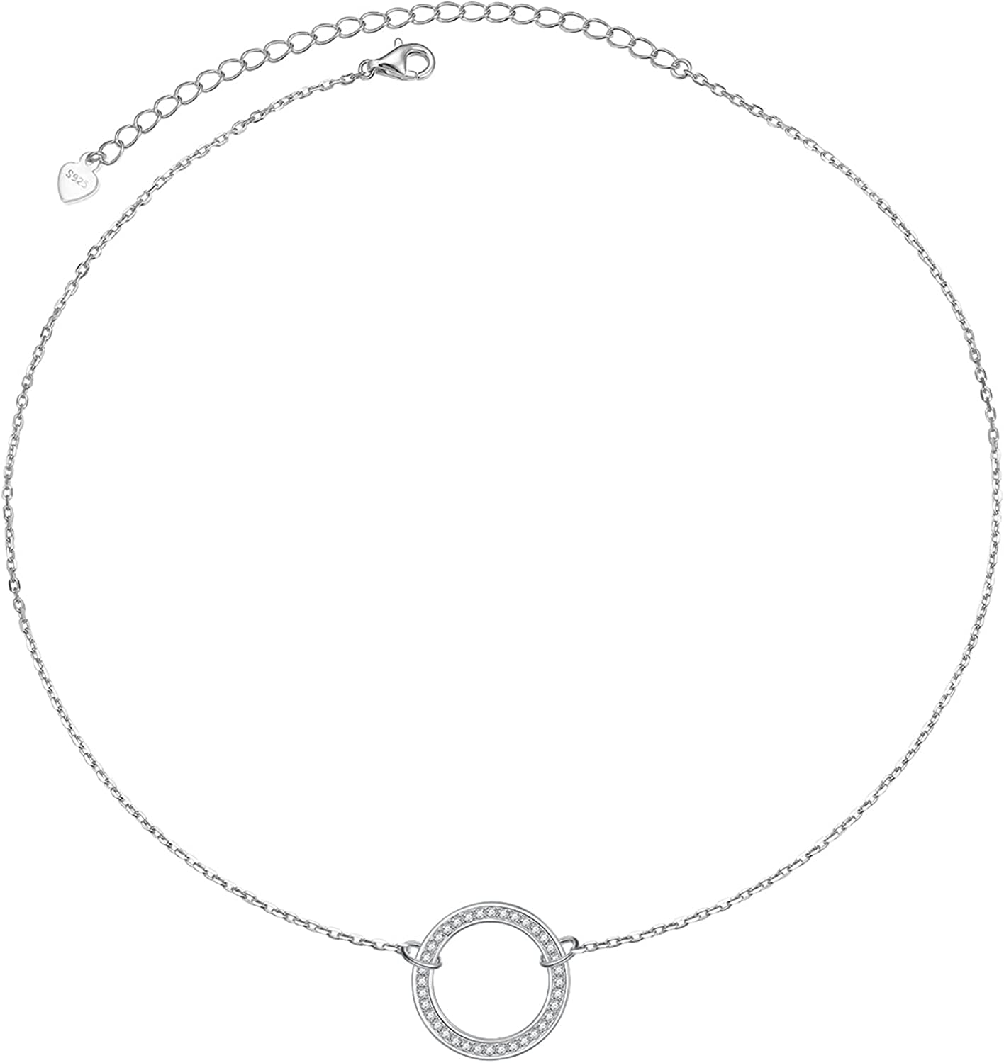 S925 Sterling Silver Dainty Simple Ad Choker wholesale Rolo Chain Limited time cheap sale Necklace