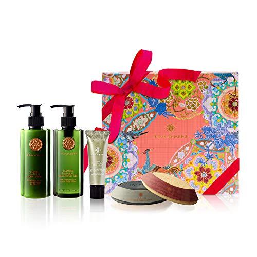 COFFRET CADEAUX, HARNN Natural Body Care Set – JASMIN III - gel douche, lotion corporelle, crème mains et ongles, savons (FLEUR DE JASMIN)