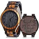 Personalized Engraved Wooden Watches for Men Custom Best Man Groomsmen Gifts for Wedding Mens Custom Watches Personalized Gifts Ideas for Men Dad Husband Boyfriend Son Grandpa Uncle
