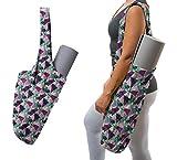 Yogiii Yoga Mat Bag | The Original YogiiiTote | Yoga Mat Tote Sling Carrier with Large Side Pocket & Zipper Pocket | Fits Most Size Mats (Tropical)