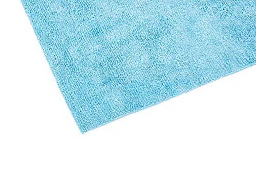 The Rag Company - Edgeless 300 - Microfiber Detailing Towels, Perfect for Removing Polishes, Sealants, and Glaze; Great for Interior Cleaning and Dirty Jobs; 300GSM, 16in x 16in, Light Blue (10-Pack)
