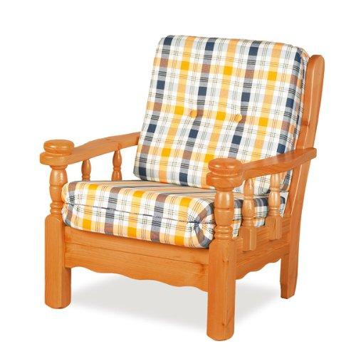 Sconosciuto Sessel aus Holz, Wiennuss, Kategorie Baumwolle X-13