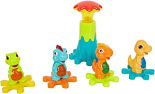 LONABR Electric Gear Dinosaur Park Blocks Play Set with Music and Light