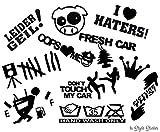 Autoaufkleber Set 11 Motive HATERS, LEIDER GEIL, BLITZER, HAND WASH ONLY VAG OEM DUB JDM Aufklebr Tuning sticker Autoscene