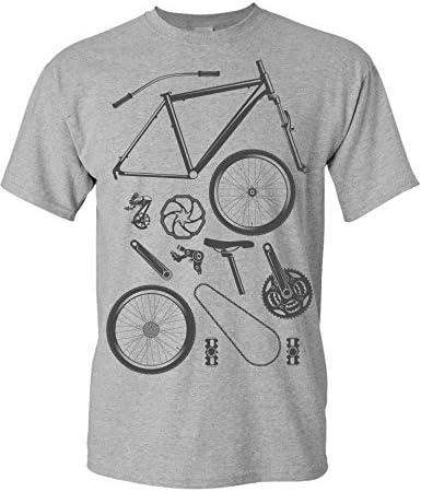 Camiseta de Bicileta: Piezas de Bici