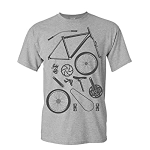 Cycling Jerseys T-Shirt: Bike Parts – Bicycle Gifts for Men and Women – Cyclists – Mountain Bike – MTB – BMX – Fixie – Road Bike – Tour…