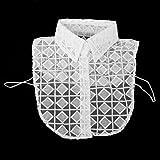 harayaa Encaje de Cuello Falso Desmontable para Camisa Decor