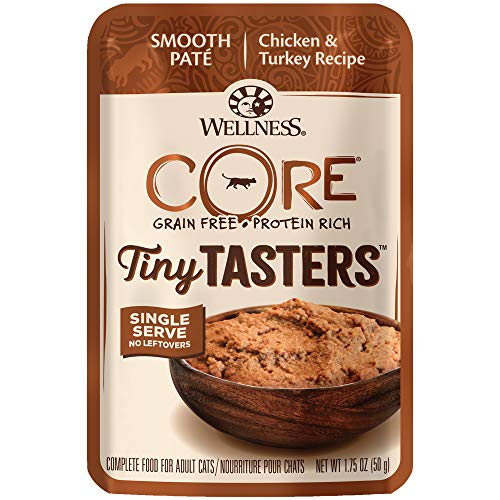Wellness, Chicken & Turkey Tiny Tasters Cat Food, 1.75 Ounce Pack of 12