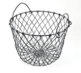Schmiedegarten Henkel-Korb aus Draht im Vintage Shabby Chic – Metall-Korb als perfekte Grundlage für eine tolle Deko