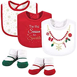 cute Christmas bibs for girls