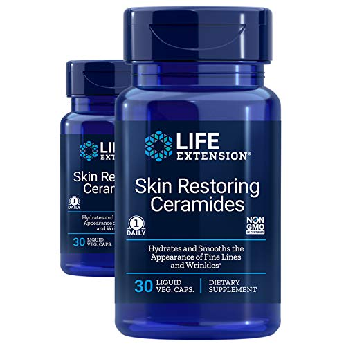 Life Extension Skin Restoring Ceramides, 30 Count (Pack of 2)