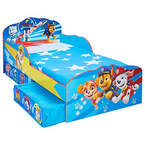 Paw Patrol Kids Toddler Bed with Storage Drawers by HelloHome, Single