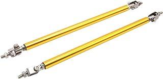 2pcs 15cm Silver Tone Aluminum Alloy Front Bumper Lip Splitter Tie Rod for Honda