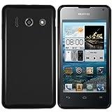 mumbi Hülle kompatibel mit Huawei Ascend Y300 Handy Case Handyhülle, schwarz