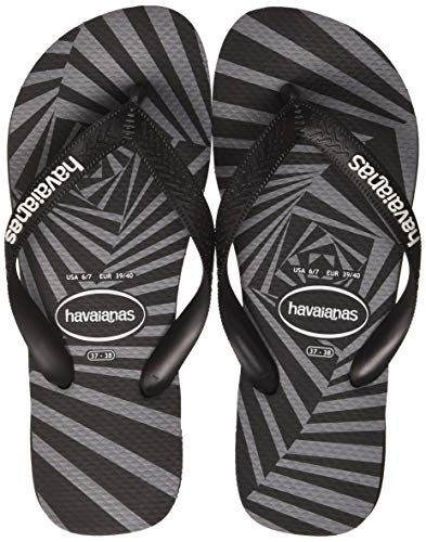 Havaianas Top 3D, Chanclas para Hombre, Multicolor (Black 0090), 37/38 EU
