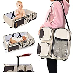 💗3-IN-1 Baby Travel Bag:Easy to carry bag combines a portable bassinet, change table and the storage space of a small diaper bag all in one! The bassinet provides your baby with a safe, sturdy and comfortable place for your baby to sleep anywhere you...