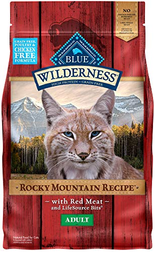 Blue Buffalo Wilderness Rocky Mountain Recipe High Protein, Natural Adult Dry Cat Food, Red Meat 4-lb