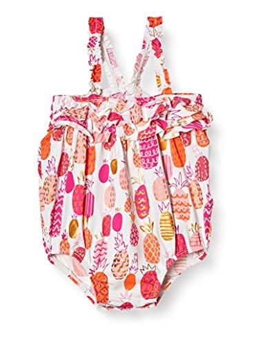 Hatley Baby Ruffle Swimsuit Maillot Une pièce, Blanc (Ananas tropicaux), 12 Mois Bébé garçon