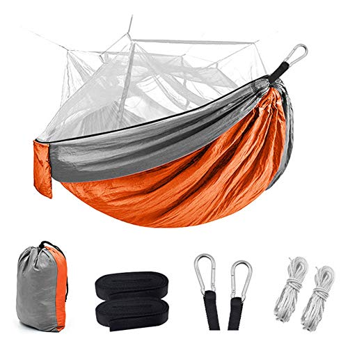 dongguanshuhui Camping Hammock Outdoor Camping Hammock Tent 2 Person Folding Hanging Hammock with Mosquito Net for Camping Backpacking Survival Travel