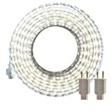 LED Rope Lights Outdoor, SURNIE White 50ft Waterproof Flexible Strip Lights Kit 110V...
