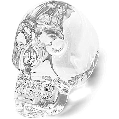 Juvale Crystal Skull, Glass Home Decor (2 x 3.4 x 3.4 in)