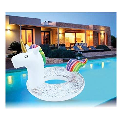 Di&Gi Ciambella Gonfiabile Unicorno con Glitter Cm. 120x90