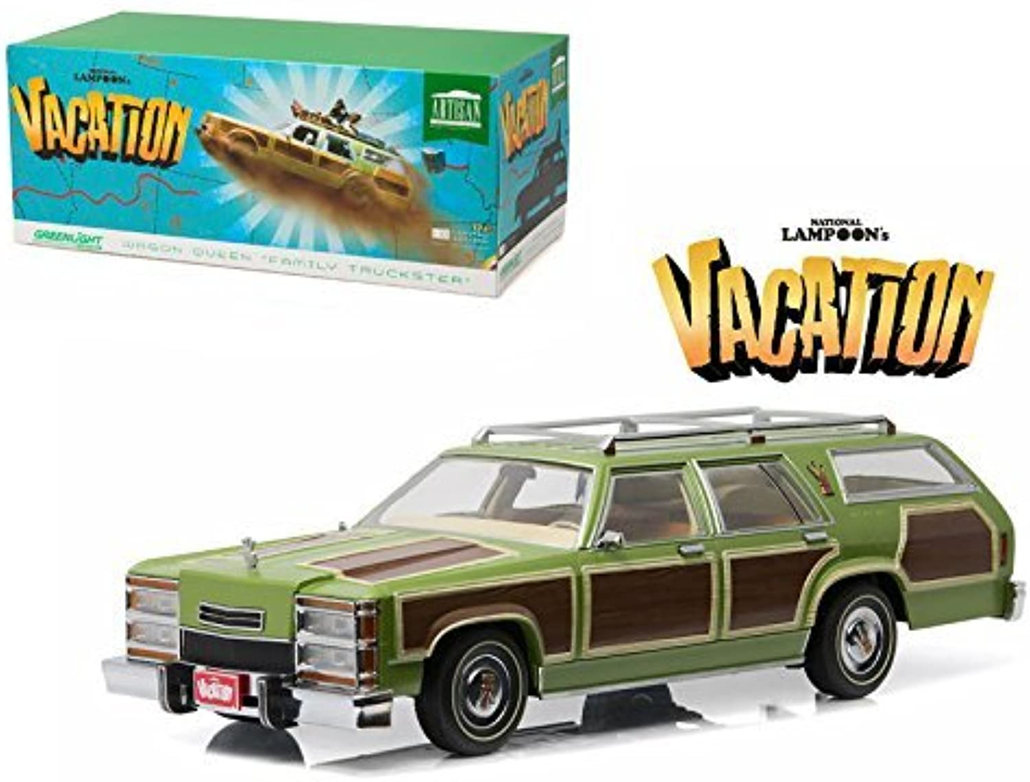 NEW 1 18 GrünLIGHT COLLECTION - NATIONAL LAMPOON'S VACATION 1979 WAGON QUEEN FAMILY TRUCKSTER Diecast Model Car By Grünlight by Grünlight