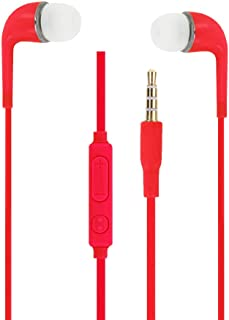 Auriculares Rojas Audio in-Ear de Silicona Ultra Confort Aislamiento el Ruido con Control de Volumen y micrófono para Elephone P3000S (6752)