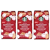 Starbucks Peppermint Mocha Ground Coffee - Pack of 3 Bags - Limited Edition Seasonal Flavored Coffee
