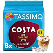 Tassimo Costa Iced Caramel Latte Coffee Pods (Pack of 5, Total 40 Coffee Capsules)