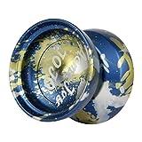 SM SunniMix Yoyo Receptivo Profesional con Rodamiento Estrecho En C Y Cuerda Extra - Azul, 57x57x43.25mm