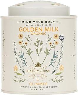 Harney & Sons Golden Milk Powder | Turmeric, Ginger, Coconut & Spices, 8 oz Tin